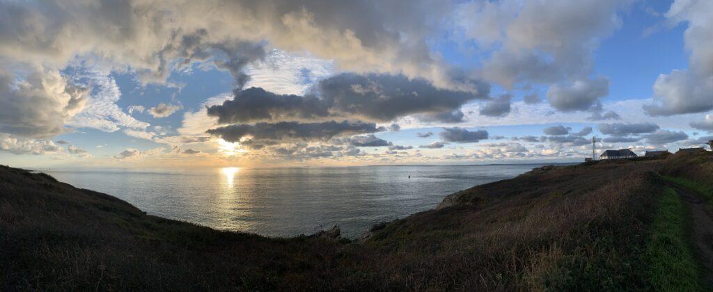 Panoramique du soleil couchant